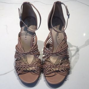 Via Spiga tan 8.5 heels. Super soft leather.